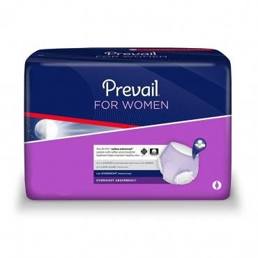 """Prevail For Women Overnight Absorbent Small/medium 34"""" X 46"""" Part No. Pwx-512 (72/case)"""