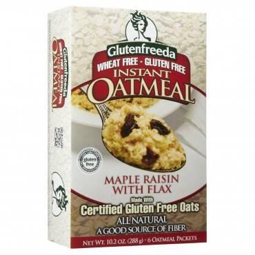 Gluten Freeda Instant Oatmeal - Maple Raisin - Case Of 8 - 11.05 Oz.
