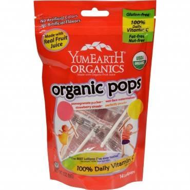 Yummy Earth Organic Fruit Lollipops - Lollipops - 3 Oz