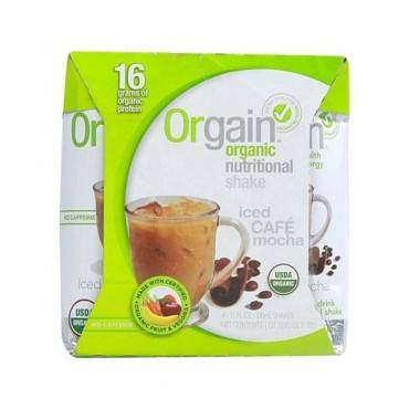 Orgain Organic Nutritional Shake - Iced Caf? Mocha - Case Of 3 - 4/11 Fl Oz.