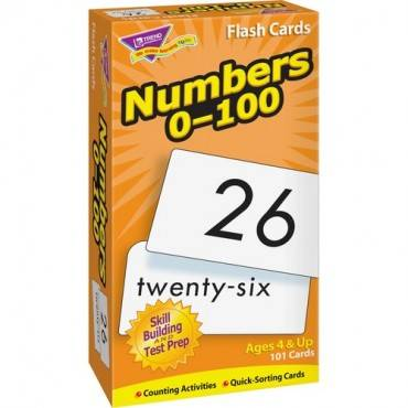 Trend Numbers 0-100 Flash Cards (BX/BOX)