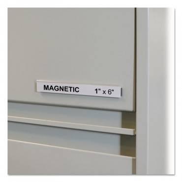 "C Line  HOL-DEX MAGNETIC SHELF/BIN LABEL HOLDERS, SIDE LOAD, 1"" X 6"", CLEAR, 10/BOX 87227 10 Box"