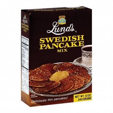 Lund's Pancake Mix Mix - Swedish Pancake - Case of 12 - 12 oz