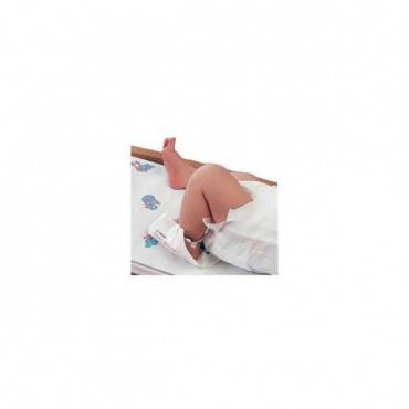 "Infant heel warmer with tape 4"" x 4"" part no. 11460-010t (25/box)"