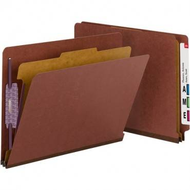 Smead End Tab Classification Folders with SafeSHIELD® Coated Fastener Technology (BX/BOX)