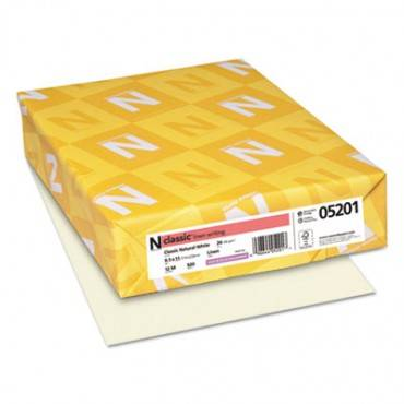 Classic Linen Stationery, 24 Lb, 8.5 X 11, Classic Natural White, 500/ream