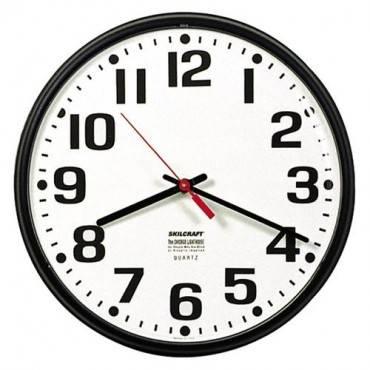 SKILCRAFT Slimline Wall Clock (EA/EACH)
