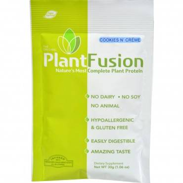 Plantfusion Cookies N Cream Packets - Case of 12 - 30 Grams