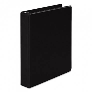 "368 Basic Round Ring Binder, 3 Rings, 1.5"" Capacity, 11 X 8.5, Black"