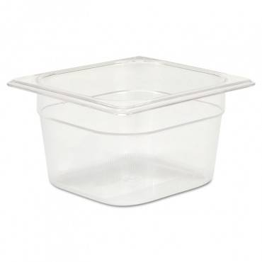 Cold Food Pans, 1 2/3qt, 6 3/8w X 6 7/8d X 4h, Clear