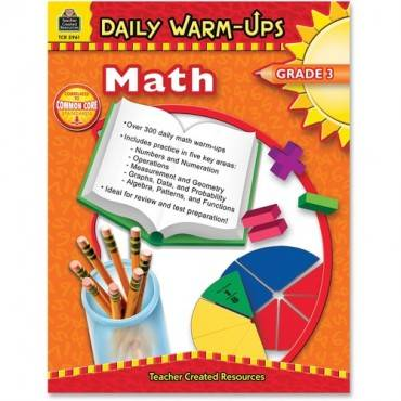 Teacher Created Resources Gr 3 Math Daily Warm-Ups Book Education Printed Book for Mathematics (EA/EACH)