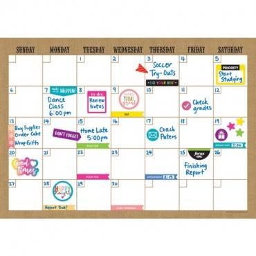 Teacher Created Resources Clingy Burlap Calendar Set (ST/SET)