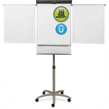 Quartet® Compass Mobile Presentation Easel, Magnetic Whiteboard/Flipchart, 3' x 2', Graphite Finish Frame (EA/EACH)