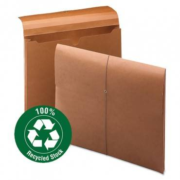 "100% Recycled Redrope Wallet, 2"" Expansion, 1 Section, Letter Size, Redrope, 10/box"