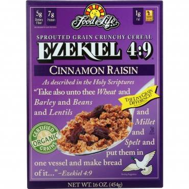 Food For Life Baking Co. Cereal - Organic - Ezekiel 4-9 - Sprouted Whole Grain - Cinnamon Raisin - 16 Oz - Case Of 6