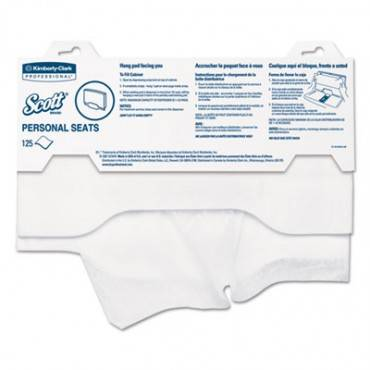 """Personal Seats Sanitary Toilet Seat Covers, 15"""" X 18"""", 125/pack"""