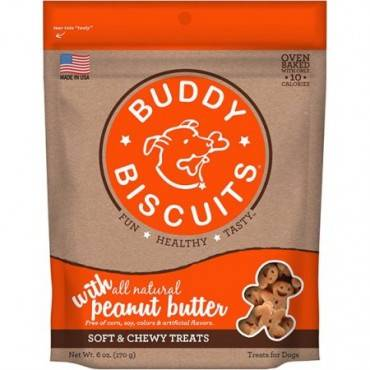 Cloud Star Buddy Biscuits Dog Treats - Peanut Butter - Case Of 12 - 6 Oz.