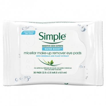 Simple  EYE AND SKIN CARE, EYE MAKE-UP REMOVER PADS, 30/PACK 27222PK 30 package