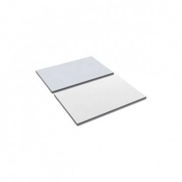 Reversible Laminate Table Top, Rectangular, 35 3/8w X 23 5/8d, White/gray