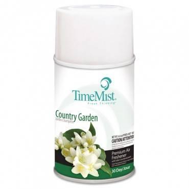 Premium Metered Air Freshener Refill, Country Garden, 6.6 Oz Aerosol, 12/carton