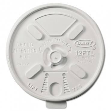 Vented Foam Lids For 10-14 Oz Foam Cups, Lift N' Lock Lid