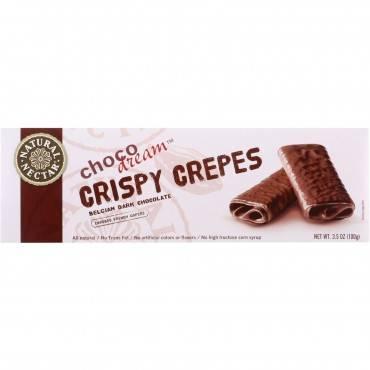 Natural Nectar Crispy Crepes - Choco Dream - Belgian Dark Chocolate - 3.5 Oz - Case Of 8