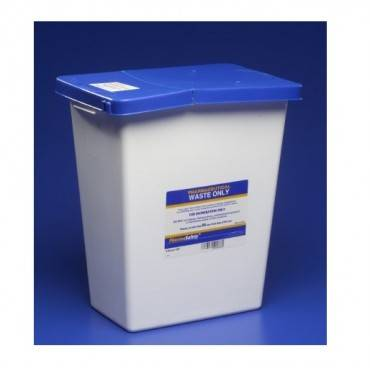 Pharmasafety Gasketed Sharps With Lid & Pad, 12 Gallon Part No. 8860 (10/case)