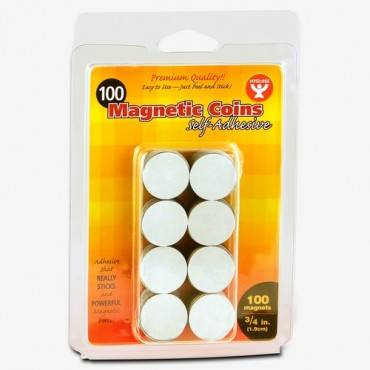 Hygloss Self-Adhesive Magnetic Coins (PK/PACKAGE)
