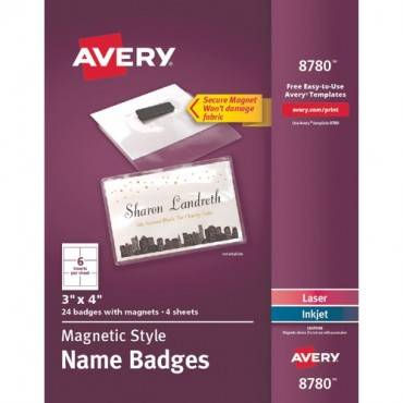 Avery® Secure Magnetic Name Badges (PK/PACKAGE)