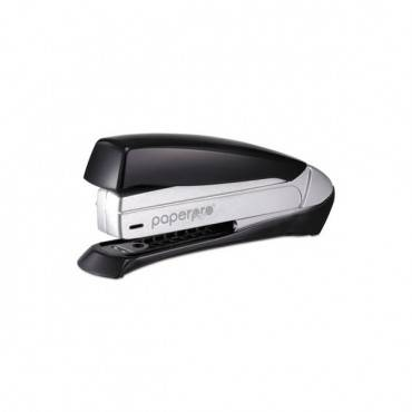 Inspire Premium Spring-powered Full-strip Stapler, 20-sheet Capacity, Black/silver