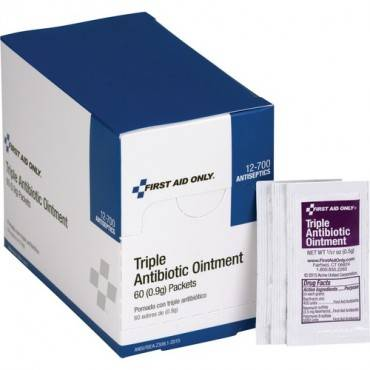 First Aid Only Triple Antibiotic Ointment Packets (BX/BOX)