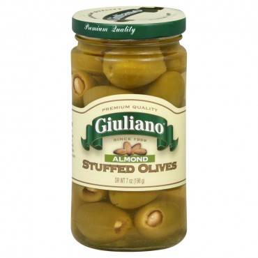 Giulianos' Specialty Foods - Stuffed Olives - Almond - Case of 6 - 6.5 oz.