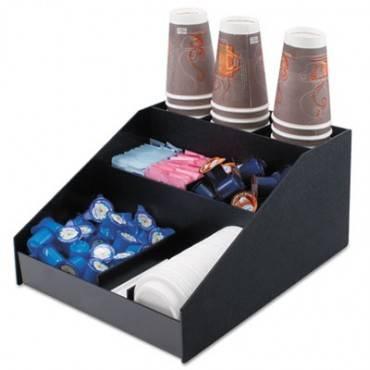 Horizontal Condiment Organizer, 12w X 16d X 7 1/2h, Black