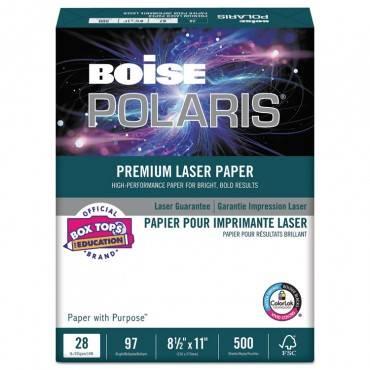 Polaris Premium Laser Paper, 98 Bright, 28lb, 8.5 X 11, White, 500/ream