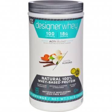 Designer Whey - Protein Powder - Vanilla Almond - 1.9 Lbs