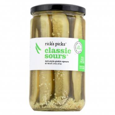 Rick's Picks Classic Sours Pickles - Case Of 6 - 24 Oz.