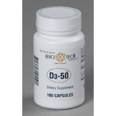 "Vitamin Supplement Bio Techâ""¢ Vitamin D3 50000 Iu Strength Capsule 100 Per Bottle(100/ea)"