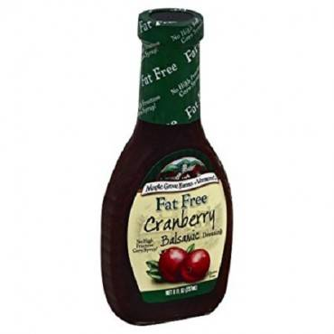 Maple Grove Farms - Fat Free Salad Dressing - Cranberry Balsamic Salad - Case Of 12 - 8 Oz.