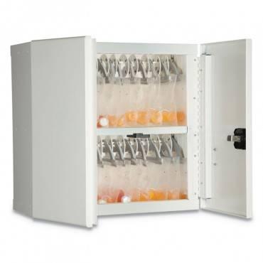 Fireking  MEDICAL STORAGE CABINET WITH CAM LOCK, 24W X 24D X 13H, WHITE 24MSC-RWT 1 Each