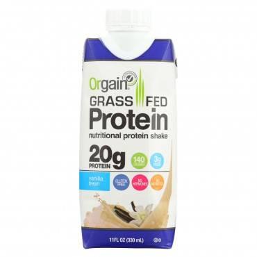Orgain Organic Protein Shakes - Vanilla Bean - Case Of 12 - 11 Fl Oz.