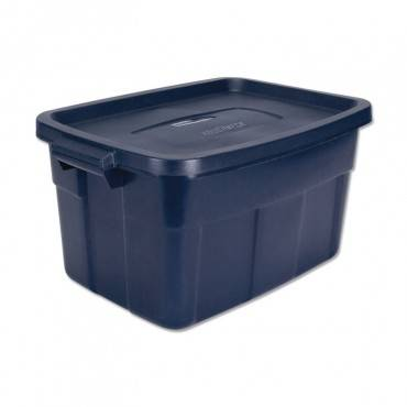 Rubbermaid  ROUGHNECK STORAGE BOX, 15 7/8W X 23 7/8D X 12 1/4H, DARK INDIGO METALLIC RMRT140008 1 Each