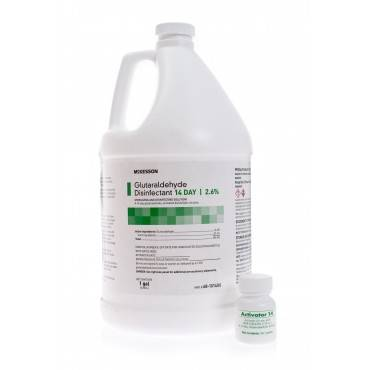 Glutaraldehyde High-Level Disinfectant Mckesson 14 Day Activation Required Liquid 1 Gal. Jug Max 14 Day Reuse(1/EA)