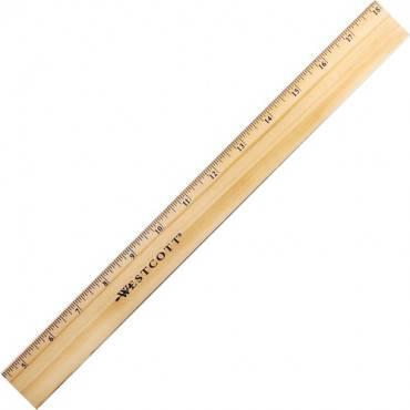 Westcott Beveled Metal Edge Wood Rulers (EA/EACH)