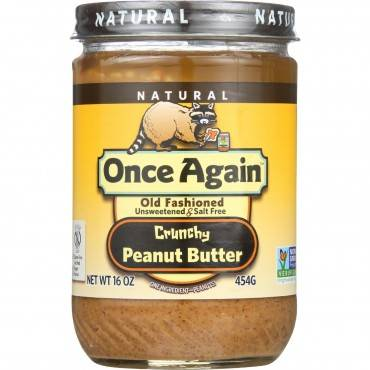 Once Again Peanut Butter - Natural - Old Fashioned - Crunchy - No Salt - 16 oz - case of 12