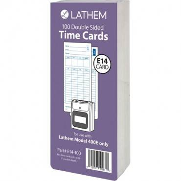 Lathem Model 400E Double Sided Time Cards (PK/PACKAGE)
