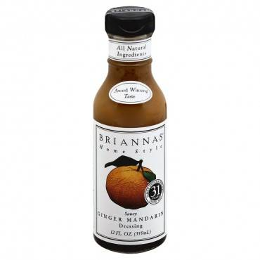 Brianna's - Salad Dressing - Saucy Ginger Mandarin - Case Of 6 - 12 Fl Oz.