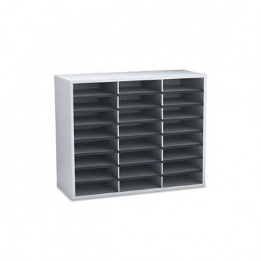 Literature Organizer, 24 Letter Sections, 29 X 11 7/8 X 23 7/16, Dove Gray