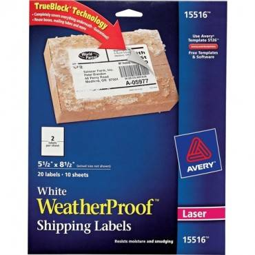 Avery® Weatherproof Mailing Labels (PK/PACKAGE)