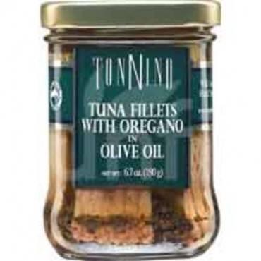 Tonnino Tuna Fillets - Oregano, Olive Oil - Case of 6 - 6.7 oz.