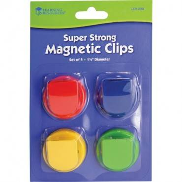 Learning Resources Super Strong Magnetic Clips Set (PK/PACKAGE)